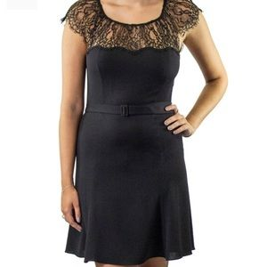 NWT Polo Ralph Lauren Lace-trim Crepe Dress
